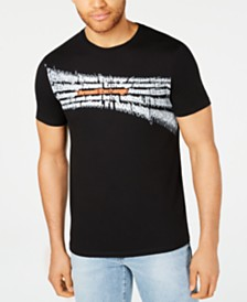 A|X Armani Exchange Men's Slim-Fit Warped Logo T-Shirt
