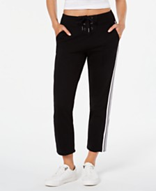 Calvin Klein Performance Lace-Up Striped Sweatpants