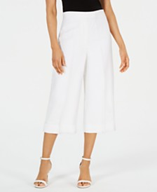 Anne Klein Cropped Wide-Leg Pants