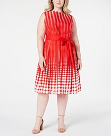 Plus Size Cotton Printed A-Line Dress