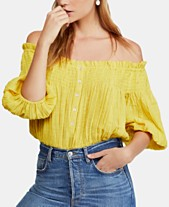 5211eab57759be Free People Dancing Till Dawn Smocked Off-The-Shoulder Top