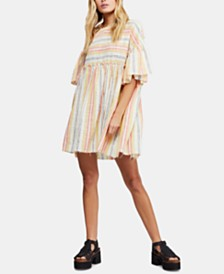 Free People Summer Nights Cotton Striped Wide-Sleeve Tunic