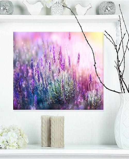 "Design Art Designart 'Growing And Blooming Lavender' Floral Metal Wall Art - 20"" X 12"""