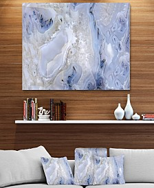 "Designart 'Agate Stone Background' Abstract Metal Wall Art Print - 40"" X 30"""
