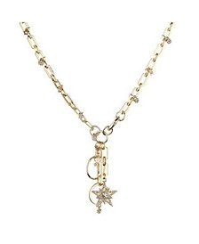 Large Link Star Charm Necklace