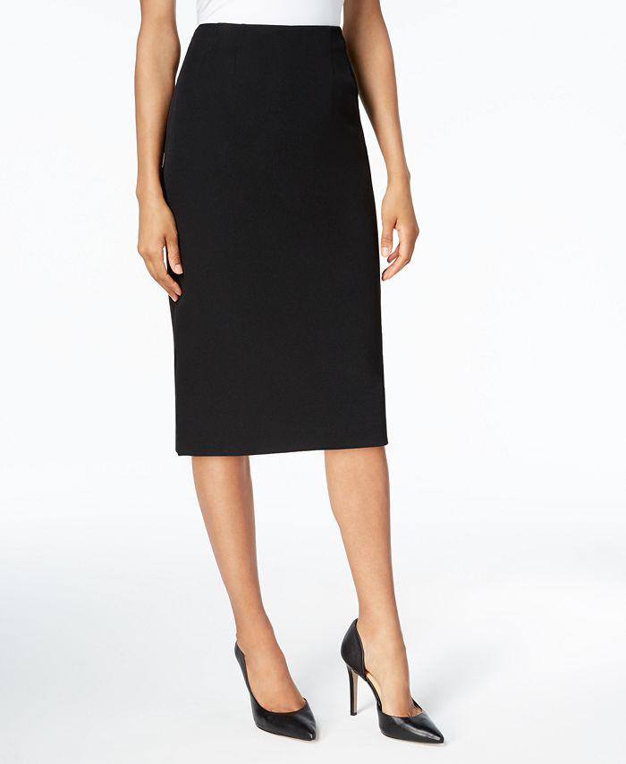 Kasper - Crepe Knee-Length Skirt