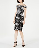 f210be5a Adrianna Papell Embellished Off-The-Shoulder Sheath Dress