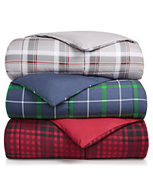 Martha Stewart Collection Essentials Reversible Plaid Down Alternative Comforter, Created for Macy's