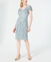 db4c8066d972 Adrianna Papell Embellished Flutter-Sleeve Sheath Dress