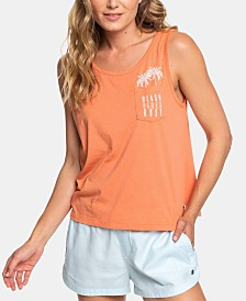 Roxy Juniors' Beach Vibes Embroidered Tank Top