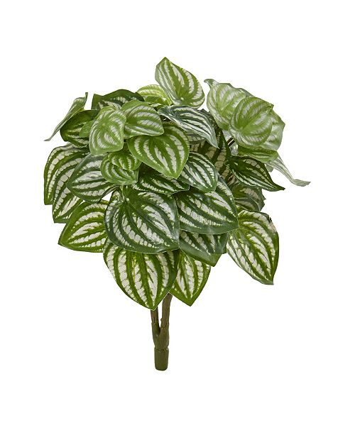 """Nearly Natural 14"""" Watermelon Peperomia Artificial Plant (Set of 6) (Real Touch)"""