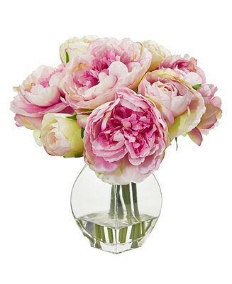 Peony Artificial Arrangement In Vase by General