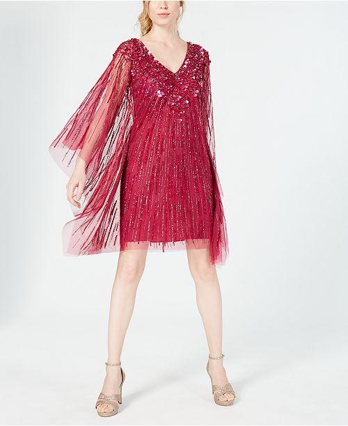 Adrianna Papell Embellished Kaftan Dress