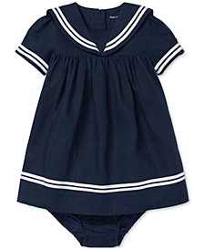 Baby Girls Sailor Dress & Bloomer