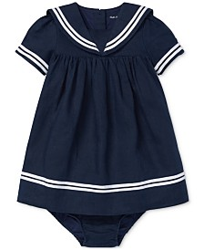 Polo Ralph Lauren Baby Girls Sailor Dress & Bloomer