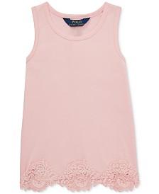 Polo Ralph Lauren Little Girls Lace-Trim Tank Top