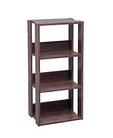 Mado 3-Shelf Open Wood Shelving Unit