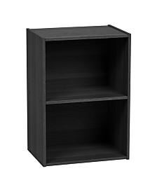 2-Tier Wood Storage Shelf