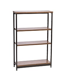 Tall and Wide Wood and Metal Shelf