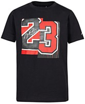 4bc6603fcd2648 Jordan Big Boys 23-Print Cotton T-Shirt