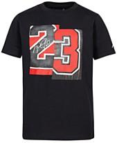 eb93cceb Jordan Big Boys 23-Print Cotton T-Shirt