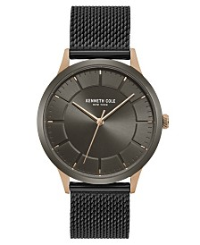 Kenneth Cole New York Men's Mesh Bracelet with Classic Dial and Case, 41MM