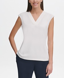 Tommy Hilfiger Sleeveless V-Neck Top, Created for Macy's