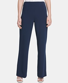 DKNY High-Waisted Wide-Leg Pants