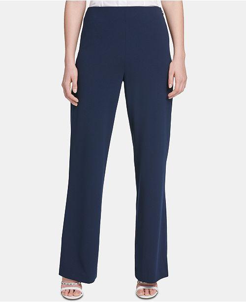 DKNY High-Waisted Wide-Leg Pants