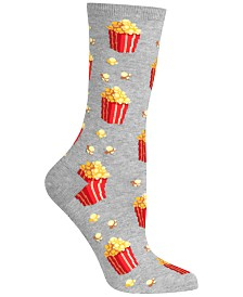 Hot Sox Women's Popcorn Fashion Crew Socks