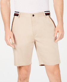 I.N.C. Men's Stretch Stripe Detail Sateen Shorts, Created for Macy's