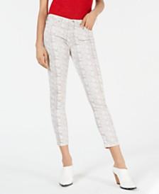 AG Jeans Prima Snakeskin-Print Skinny Jeans