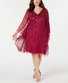 Adrianna Papell Plus Size Embellished Kaftan Dress