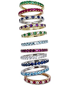 Gemstone and Diamond Stacking Ring Collection