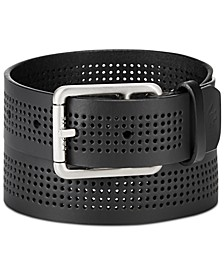 Men's Perforated Leather Belt