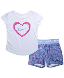 Nike Baby Girls 2-Pc. Dri-FIT T-Shirt & Shorts Set