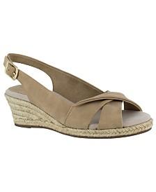 Easy Street Maureen Espadrille Slingback Sandals