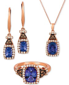 Le Vian® Blueberry Tanzanite & Diamond Jewelry Set in 14k Rose Gold