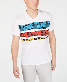 I.N.C. Men's Stripe Graphic V-Neck T-Shirt, Created for Macy's