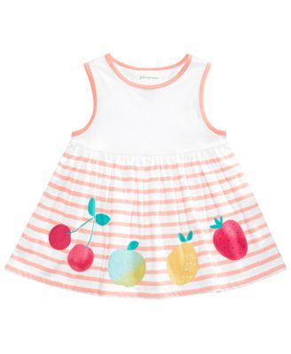 Baby Girls Fruity Striped Tunic, Created for Macy's