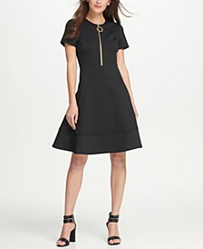 Zippered Fit & Flare Dress, Created for Macy's