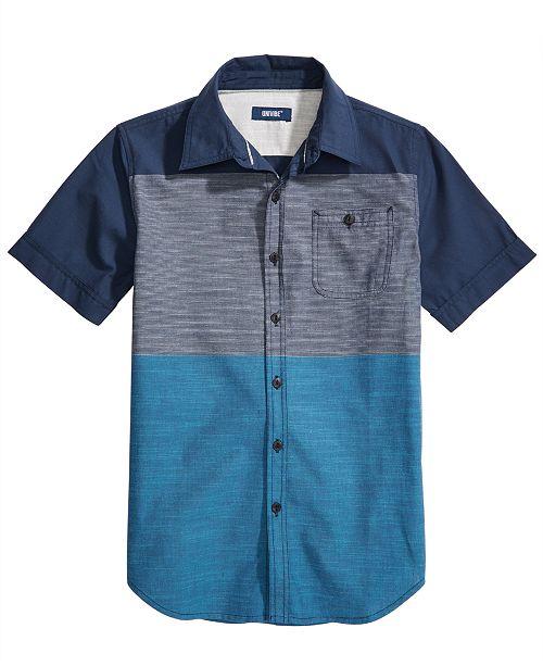 54b519b15 Univibe Big Boys Danbury Regular-Fit Colorblocked End-On-End Stripe Shirt