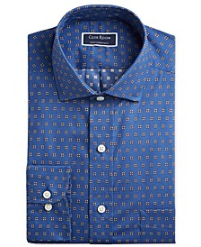 Men's Classic/Regular Fit Performance Stretch Foulard Print Dress Shirt, Created for Macy's