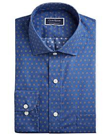Club Room Men's Classic/Regular Fit Performance Stretch Foulard Print Dress Shirt, Created for Macy's