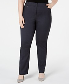 JM Collection Petite Plus Size Straight-Leg Pants, Created for Macy's