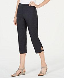 JM Collection Petite Double-Ring-Hem Capri Pants, Created for Macy's