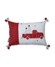 Truck and Trees Lumbar Pillow