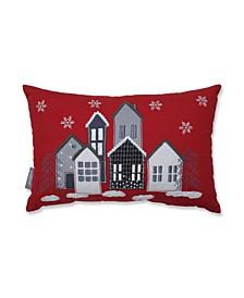 Festive Village Lumbar Pillow