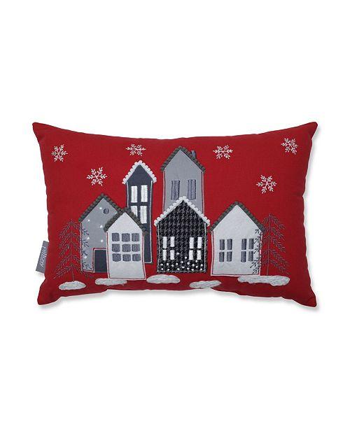 Pillow Perfect Festive Village Lumbar Pillow