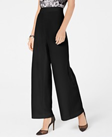 I.N.C. Pleated Wide-Leg Pants, Created for Macy's